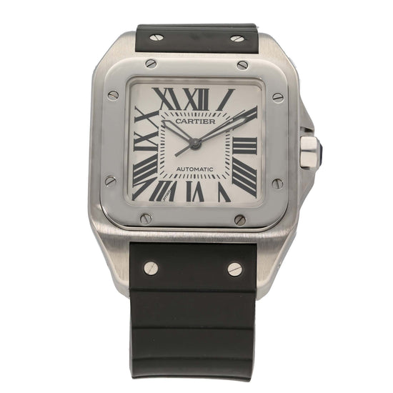 Cartier Santos 100 2656 38.5mm Stainless Steel Mens Watch