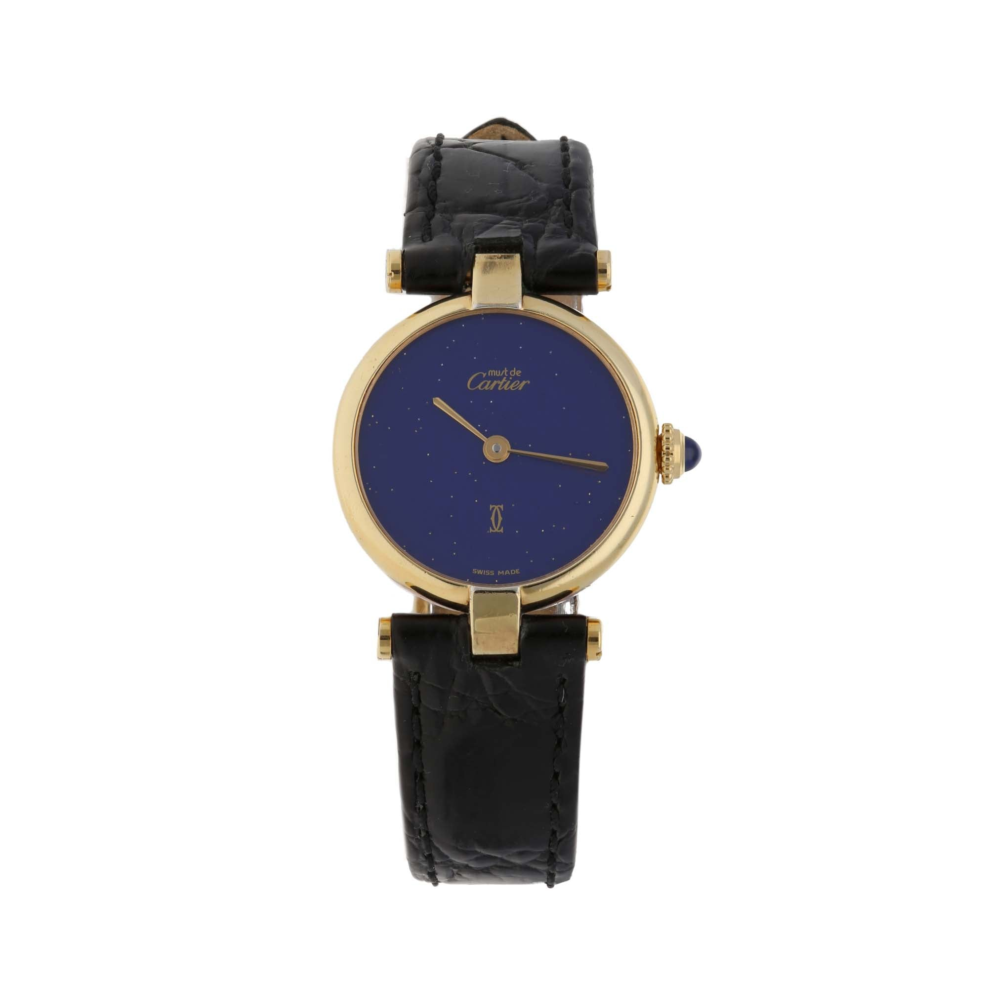 Cartier Vintage 24mm Gold Plated Ladies Watch
