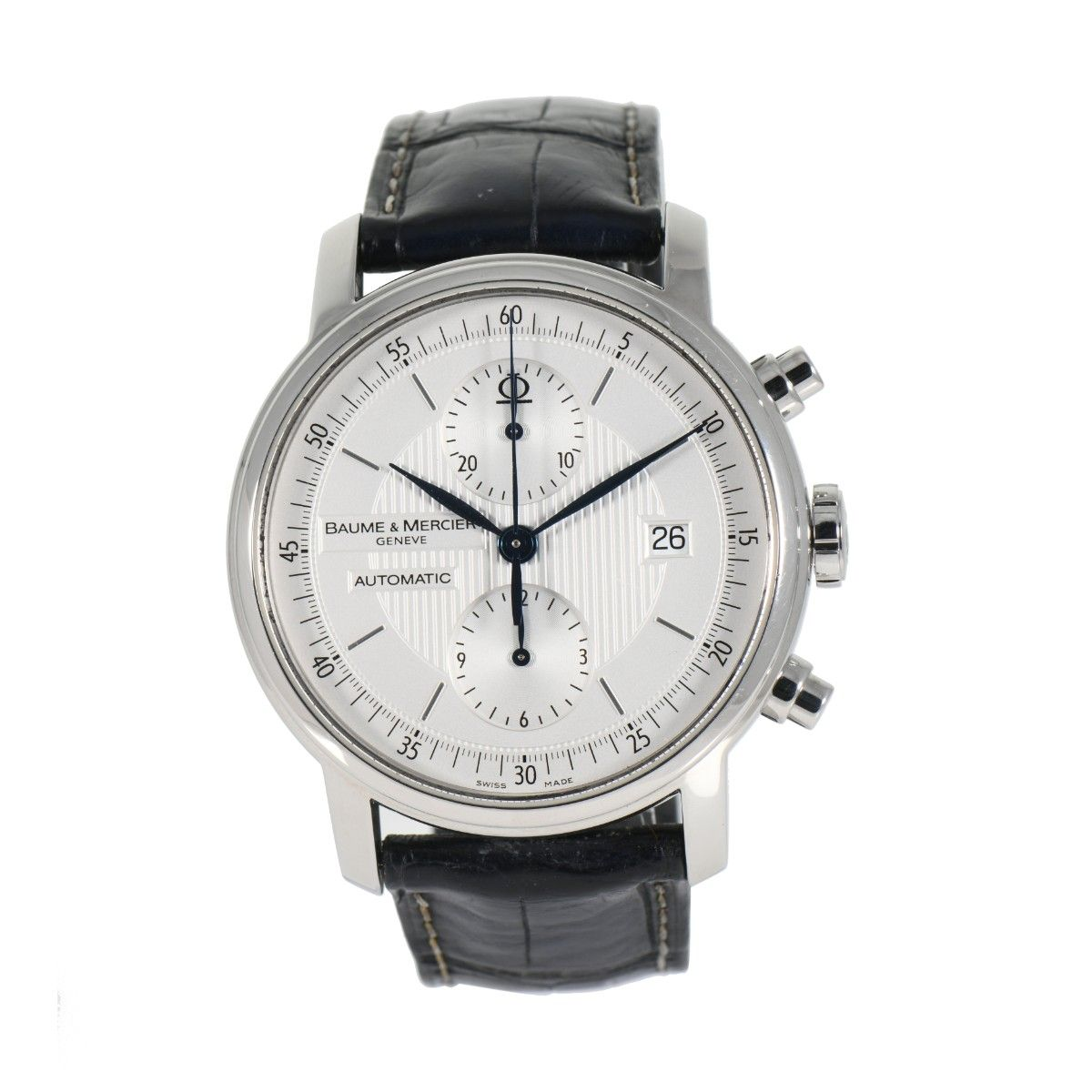 Baume & Mercier Classima Chronograph 65560 Steel & Grey 40mm Mens Watch