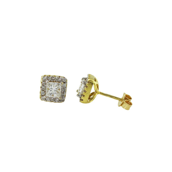 1.16ct Diamond Cluster Earrings - 6#NTV%
