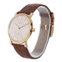 Load image into Gallery viewer, Omega Vintage 9ct Yellow Gold and Grey 34mm Mens Watch