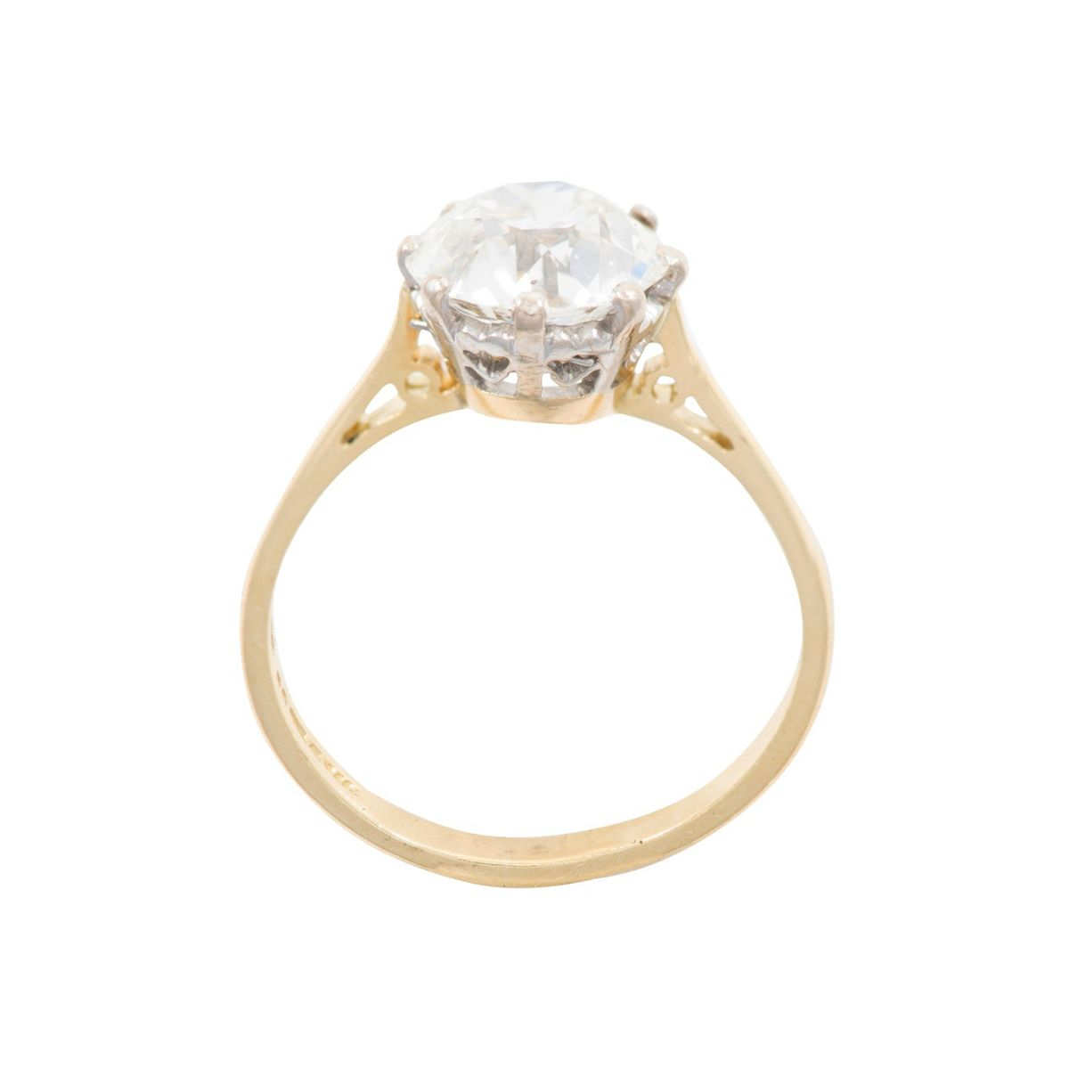 18ct Yellow Gold 2.65ct Diamond Solitaire Ladies Ring Size N