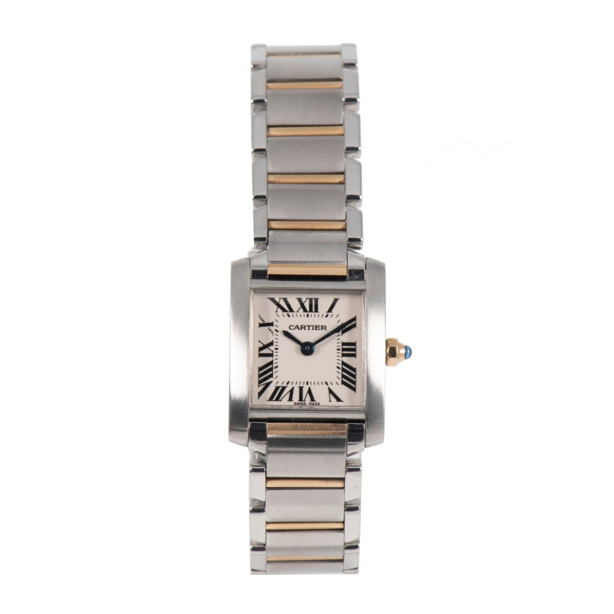 Cartier Tank Francaise 2384 Steel and Cream 20mm Ladies Watch