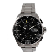 Load image into Gallery viewer, Tag Heuer Aquaracer CAY211A Chronograph Steel & Black 43mm Mens Watch