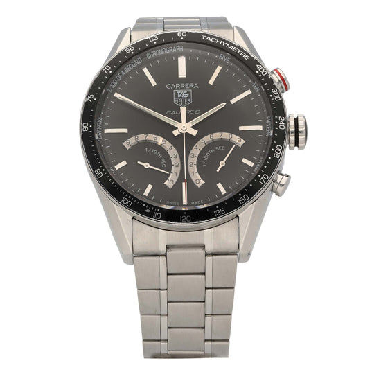 Tag Heuer Carrera CV7A12 43mm Stainless Steel Mens Watch