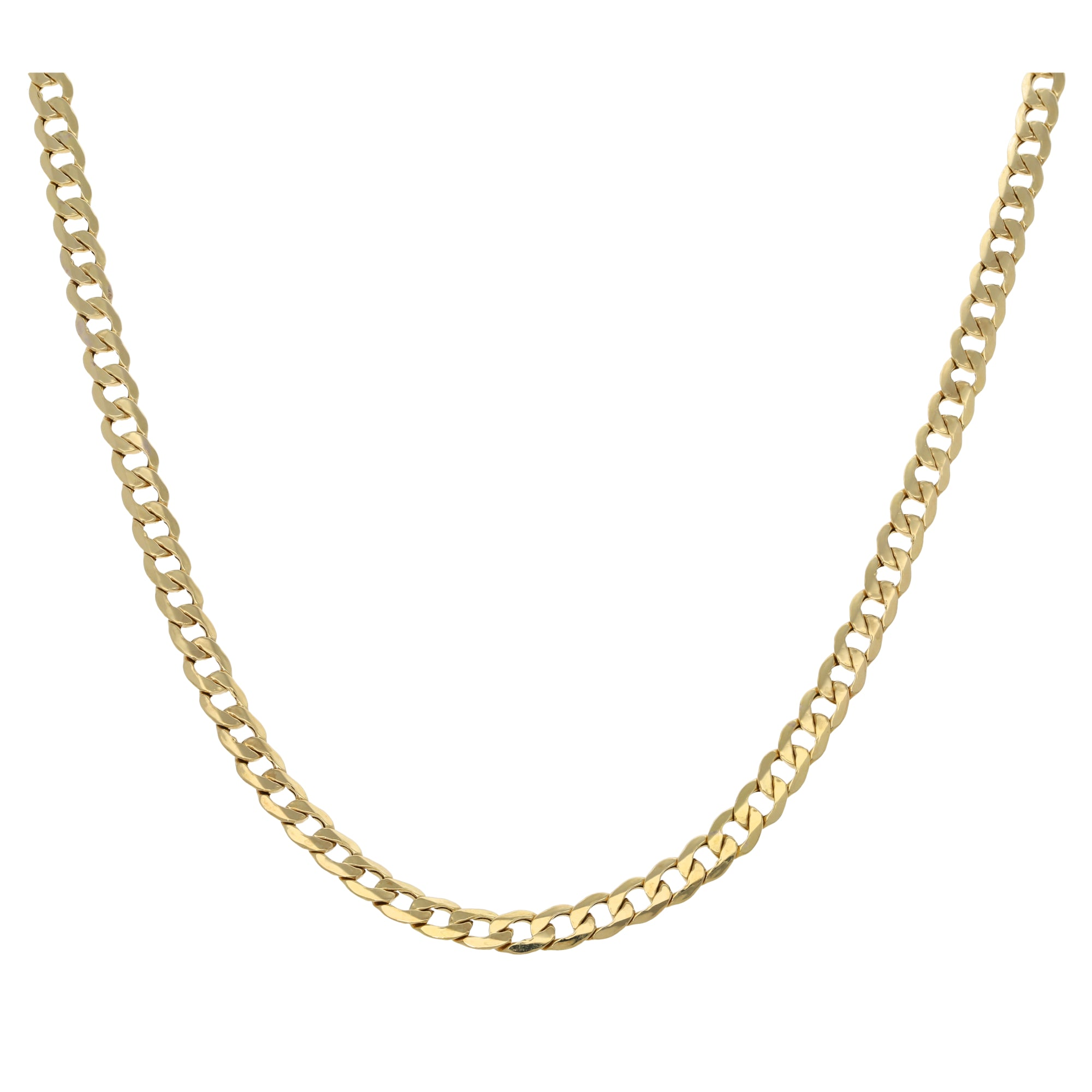 9ct Gold Ladies Curb Chain 24