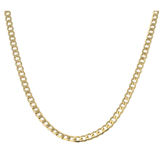 9ct Gold Ladies Curb Chain 24""