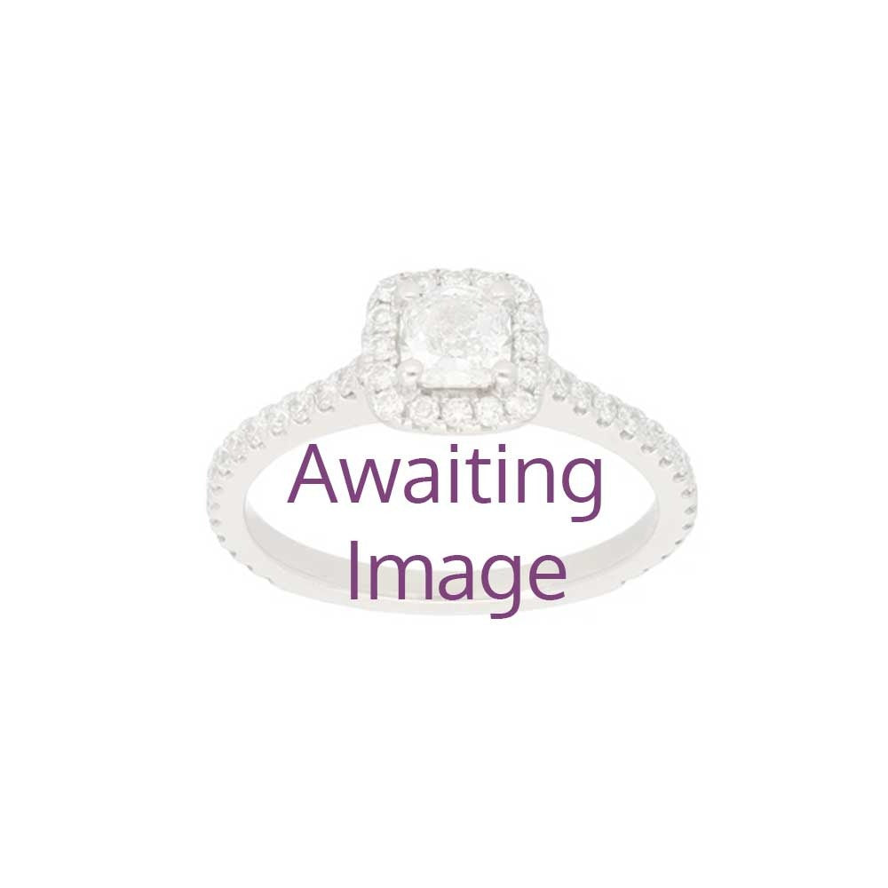 9ct Gold 0.03ct Round Cut Diamond Ladies Cluster Ring Size O