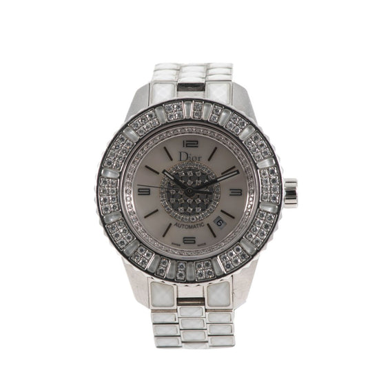 Christian Dior Christal CD113512 34mm Mother of Pearl & Stainless Steel Automatic Watch Ladies #7#MP@