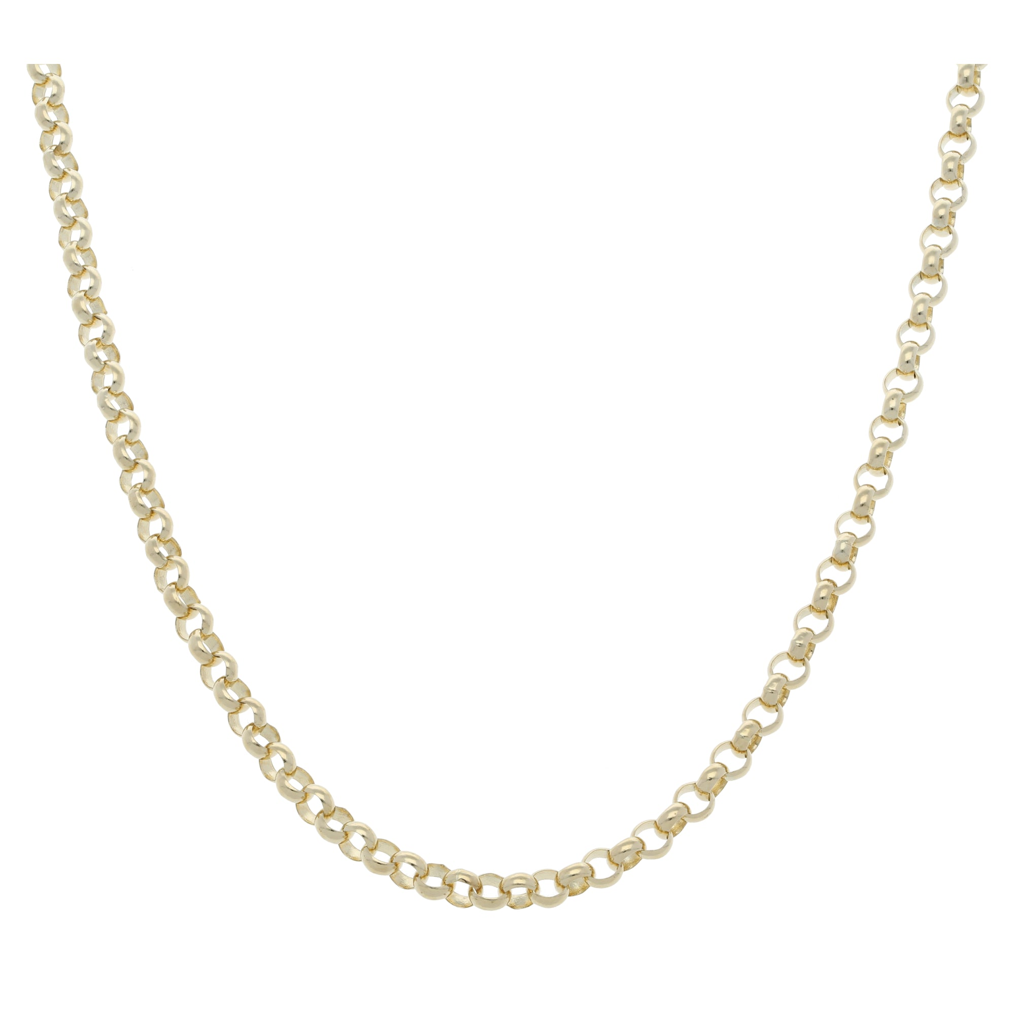 9ct Gold Ladies Belcher Chain 24