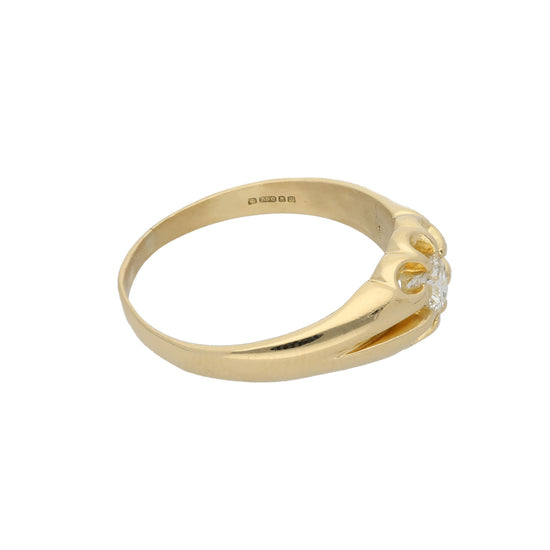 18ct Gold Diamond Unisex Solitaire Ring Size X