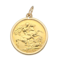 Load image into Gallery viewer, 9ct Gold Ladies Coin Pendant