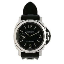Load image into Gallery viewer, Panerai Luminor Marina OP6518 44mm Black & Stainless Steel Manual Wind Mens Watch
