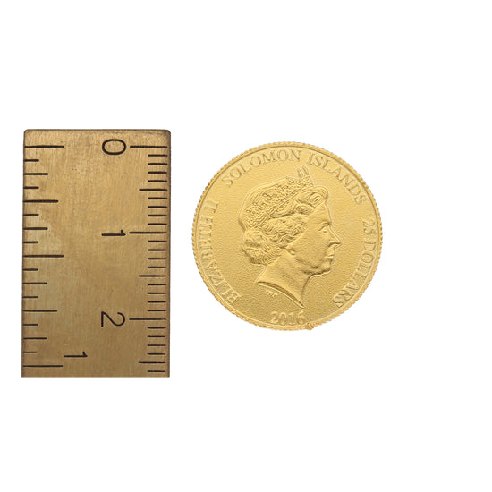 22ct Gold Unmounted Solomon Islands Coin