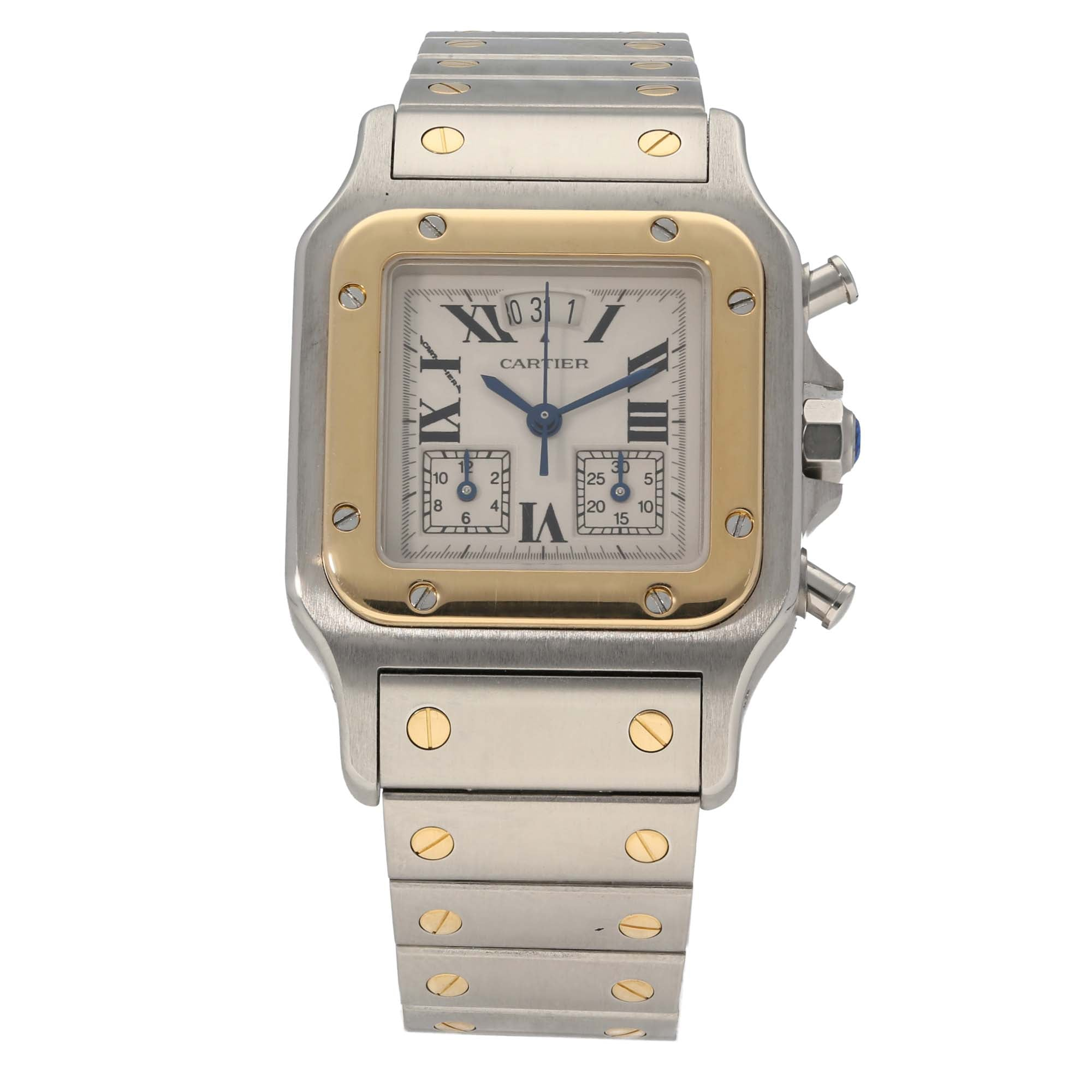 Cartier Santos 2425 28mm Bi-Colour Mens Watch