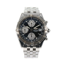 Load image into Gallery viewer, Breitling Chronomat A13352 Black & Stainless Steel Automatic Mens Watch