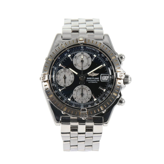 Breitling Chronomat A13352 Black & Stainless Steel Automatic Mens Watch