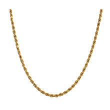Load image into Gallery viewer, 22ct Gold Ladies Rope Chain 22""