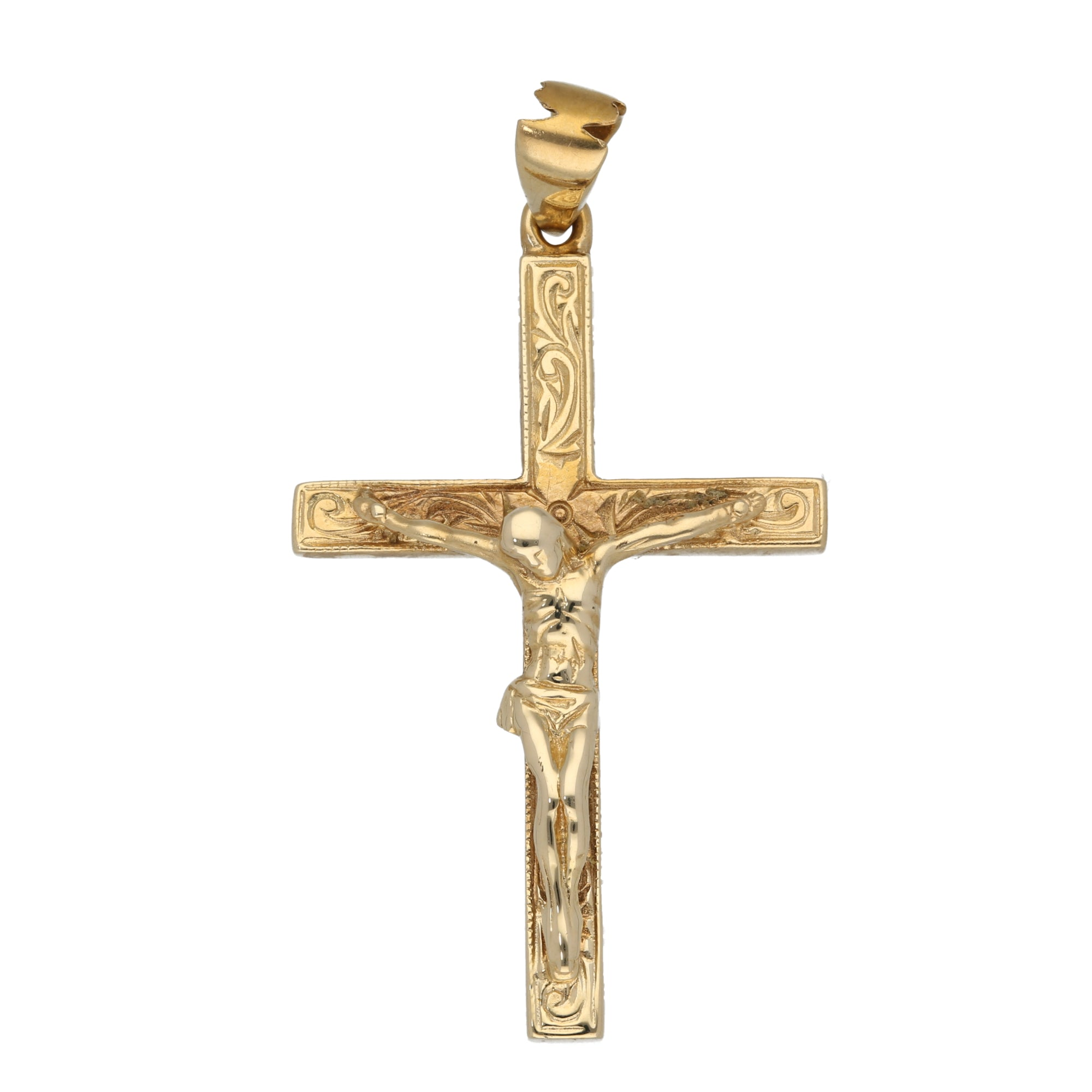 9ct Gold Ladies Crucifix Pendant