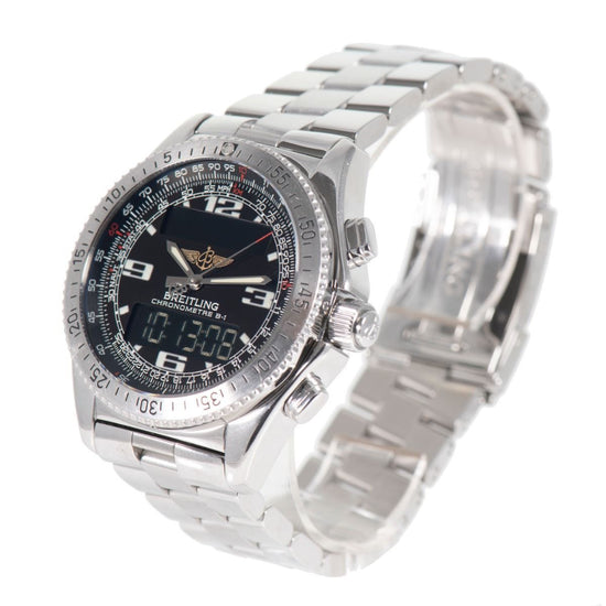 Breitling B1 A78362 Stainless Steel & Black Dial 43.5mm Mens Watch