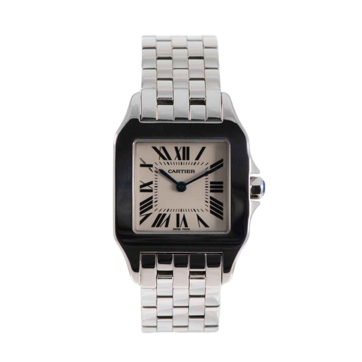 Cartier Santos Demoiselle 2701 26mm Cream & Stainless Steel Quartz Unisex Watch