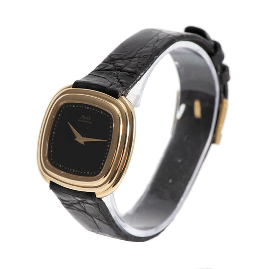Piaget Classic 75101 18ct Gold & Black 32mm Ladies Watch