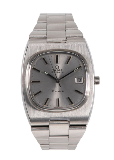 Omega Vintage 36mm Grey & Stainless Steel Automatic Mens Watch