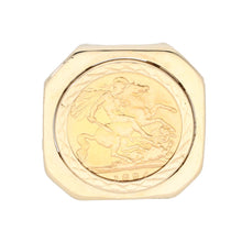 Load image into Gallery viewer, 9ct Gold Ladies Coin Ring Size V