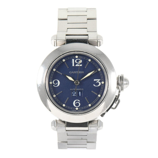 Cartier Pasha 2475 - 36mm Blue Mens Watch