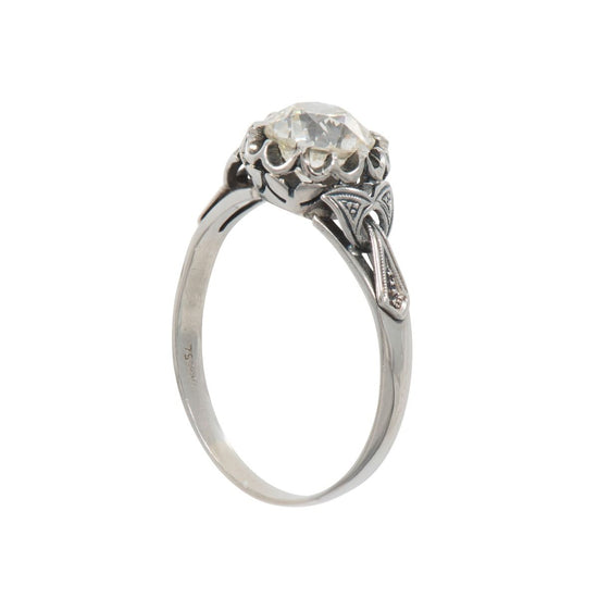 18ct White Gold 1.72ct Diamond Solitaire Ladies Ring Size R