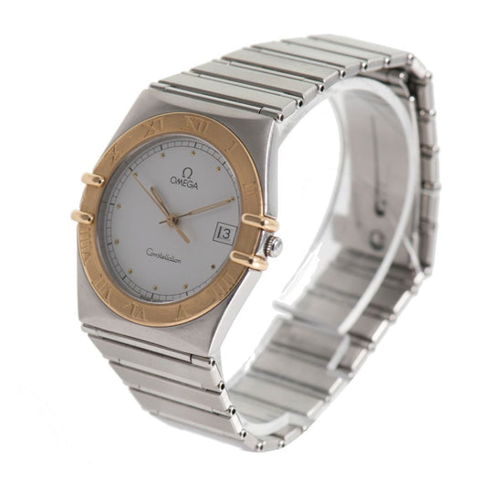 Omega Constellation Quartz White Dial 32.5mm Mens Watch