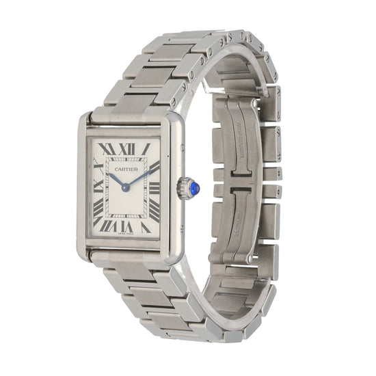 Cartier Tank Solo 3170 24.5mm Stainless Steel Mens Watch