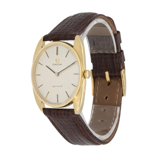 Omega De Ville 28mm 18 Ct Gold Mens Watch