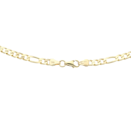 9ct Yellow Gold Mens Figaro Chain 22 inches