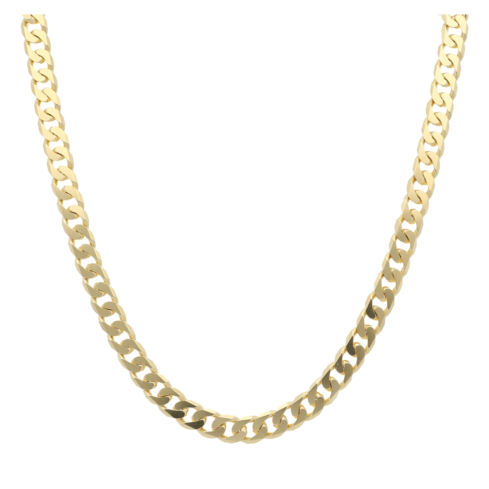 18ct Yellow Gold Mens Curb Chain (22