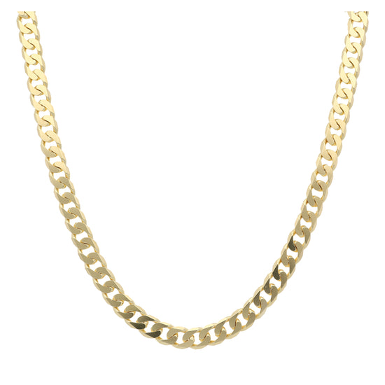 "18ct Yellow Gold Mens Curb Chain (22"")"