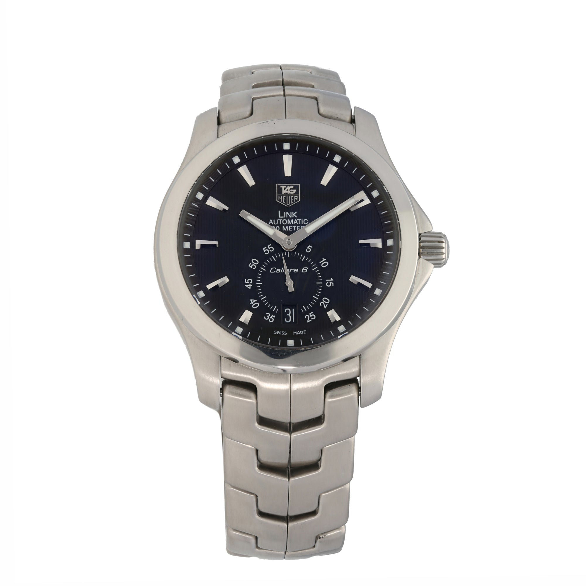 Tag Heuer Link WJF211A 39mm Stainless Steel Mens Watch