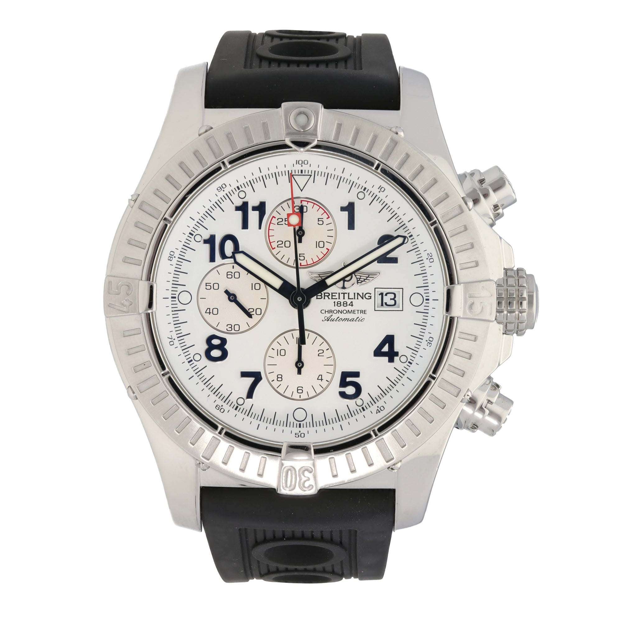 Breitling Super Avenger A13370 48.5mm Stainless Steel Mens Watch