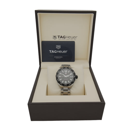 Tag Heuer F1 WAZ1110 41mm Stainless Steel Mens Watch