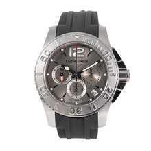 Load image into Gallery viewer, Longines Hydro Conquest L3.665.4 Steel & Grey 47.5mm Mens Watch