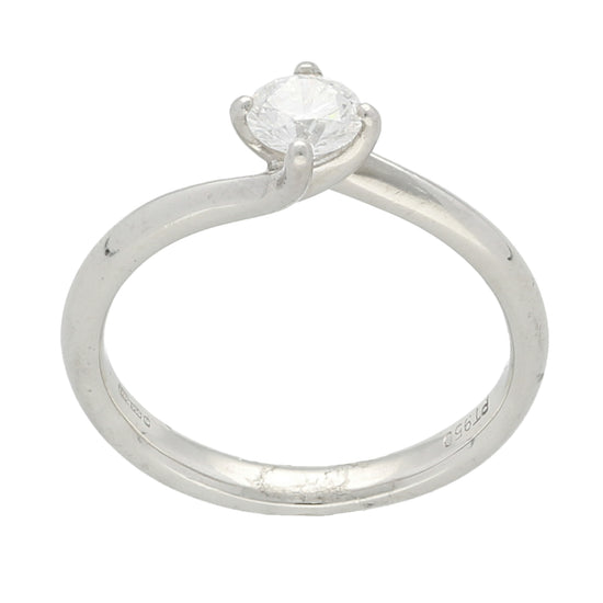 Platinum Diamond Ladies Solitaire Ring Size M