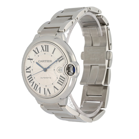 Cartier Ballon Bleu 3765 42mm Stainless Steel Mens Watch