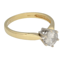 Load image into Gallery viewer, 18ct Gold Diamond Ladies Solitaire Ring Size O