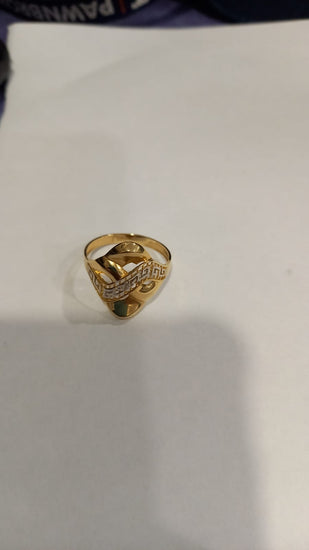 14ct Bicolour Gold Ladies Dress/Cocktail Ring Size R