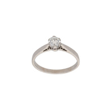 Load image into Gallery viewer, 18ct White Gold Diamond Ladies Solitaire Ring Size L