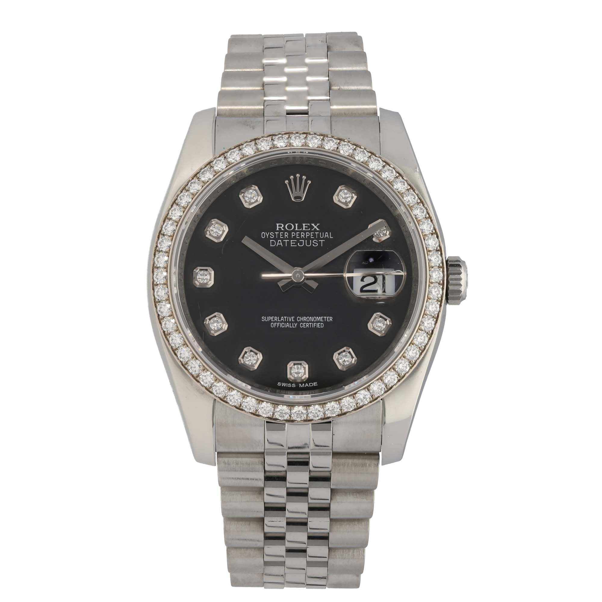 Rolex Datejust 116244 36mm Stainless Steel Mens Watch