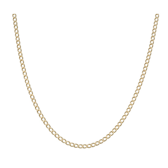 9ct Gold Ladies Curb Chain 18""