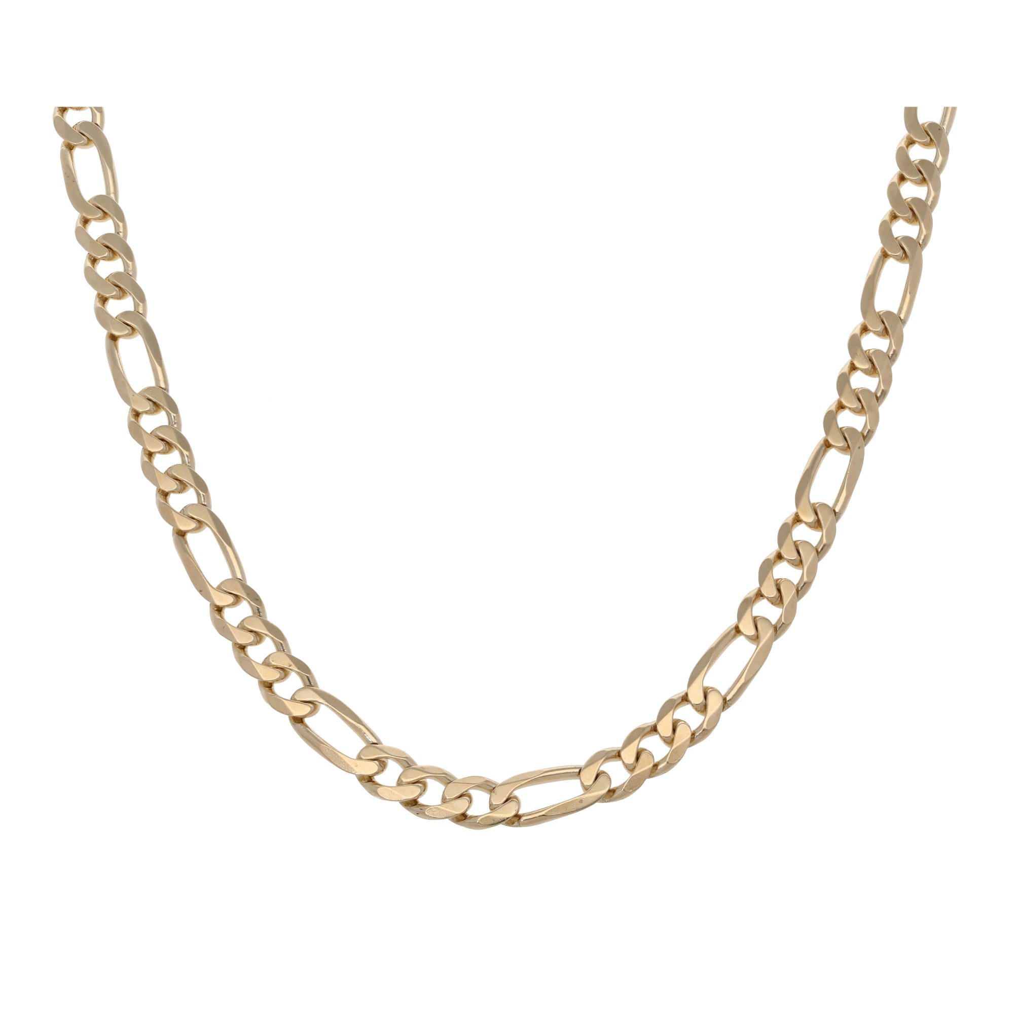 9ct Gold Ladies Figaro Chain 24