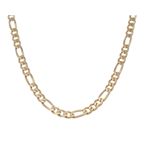 9ct Gold Ladies Figaro Chain 24""