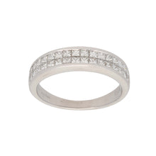 Load image into Gallery viewer, 18ct White Gold Diamond Ladies Dress Cocktail Ring Size K